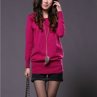 2014 new winter in the long low T-shirt sweater bottoming shirt sweater dress
