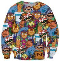 Happy Boys women pullovers 2014 Woman Winter Clothes 3D cartoon Sweatshirt O Round Collar Women's Tracksuits