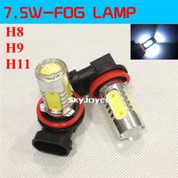 7.5W Super Bright  DC12V H8 H11 led Fog Light H8 H9 H11 led fog lamp bulb auto daytime running light LED DRL car anti-fog led