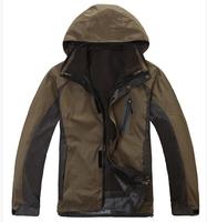 2014 man outdoor sport Jackets mens Camping & Hiking Coats & Jacket Waterproof Windproof Breathable Skiing Windbreaker 3 in1