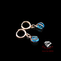 8220360-1 New Arriveal 18K Russia CC/585 gold plated Rose Gold The star of the sea earrings 2pcs/lot