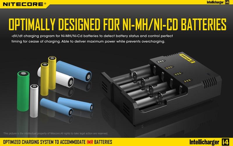 Free Shipping High Quality Nitecore I4 Universal Intelligent Li-ion/NiMH 18650/26650/AA Battery Charger(China (Mainland))