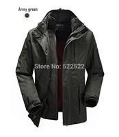 2014 New Big Sale Mens Outdoor Jakcet Men Autumn Winter Hoodie Jacket Waterproof Warm Climbing Jacket High Quality Free Shipping