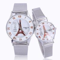 Luxury watch for men women lovers paris eiffel tower roman number alloy band white quartz best selling top quality dropship