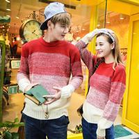 winter coat QM82F65*2014 Korean men's sweater Chao Fan Qiu class suit gradient retro lovers in winter sweaters winter sweater