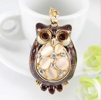 Manufacturers selling high-end owl Rhinestone Keychain animal zodiac Pendant car key bag