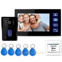 "7"" Video Door Phone Intercom Doorbell Home Security Camera Monitor RFID Keyfobs,Video Door Entry System"