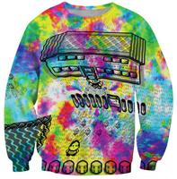 2014 Winter Warm Women Sweaters Colorful Print Sweatshirt Casual Round Collar Sport Suit Women Brand