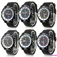 Mens Women Unisex Casual Silicone Rubber GT Sport Analog Quartz Wrist Watch NEW Free Shipping