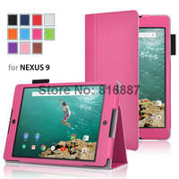 Retail 1pc/lot new arrival tablet case for Google Nexus 9 cover with sleep/wake up function