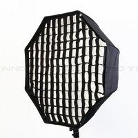 95cm Octagon Umbrella Softbox with Grid for Studio Speedlite Flash PSU95G free shipping