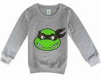 New Cotton Teenage Mutant Ninja Turtles Long Sleeve Child T Shirt Kids Autumn hoodies Baby Kids cotton sweatshirts in stock