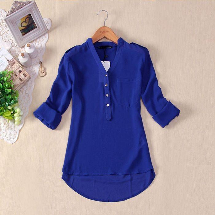 Женские блузки и Рубашки Women blusas femininas roupas femininas s m l XL xXL HD45 женские блузки и рубашки summer blouse blusas femininas 2015 roupas s