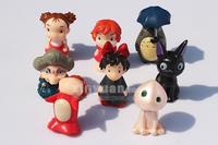 Totoro Spirited Away Ponyo on the Cliff by the sea 8x set mini figure toy