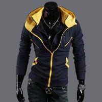 hoodie Hot warm Collar new brand men's Jackets warm coat hoodie cotton warm collar cap Men