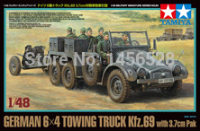 TAMIYA model 32580 1/48 German 6x4 Towing Truck Kfz.69 - w/3.7cm Pak Assembly Model kits Modle building scale plastic model(China (Mainland))