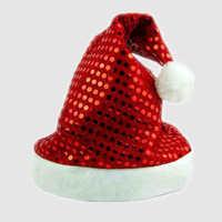 New Year 4 style Sequins Decoration Women Santa Claus Christmas Cap Hat