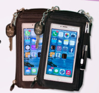 AS SEEN ON TV New Touch purse Smartphone case Multi-Fuction Mobile Pouch  FreeShipping