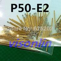 Free Shipping 100pcs/lot P50-E2 Dia 0.9mm spring test probes pogo pin Length 16.55mm (75g)
