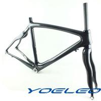 carbon fiber frame + fork 700c road bike carbon rack ultra-light bicycle drop serpiform one piece