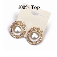 Min Order 9$! Fashion Big Imitation Pearl Earrings Studs Women Party Jewelry