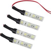 3LEDS 5050 RGB Led Strip Light Car Motorcycle Waterproof Flexible Strip Light Sticker 3M Tape Aluminum Plate 10pcs/lot