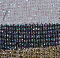 decorative glitter colorfull synthetic leather sparkling scale pattern TC Backing