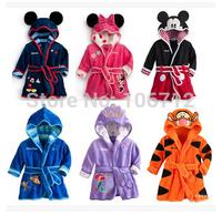 Hot new Children's Pajamas robe kids Micky minnie mouse Bathrobes Baby homewear Boys girls Cartoon Home wear retail