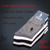 color choose High quality 100% cotton Business warm HJC Polo brand socks Men's sports winter socks christmas US Size (7.5~12)