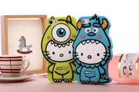 Cute Hello Monster Cartoon Figure Design Case Cover Skin For iPhone 6(4.7'')