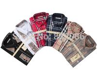 free shipping 6 colors size M-2XL men B brand classical checker business formal shirt non-iron anti-wrinkle men shirt MWS14003