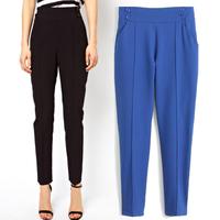 2014 Winter New Shoppe Women Casual Harem Pants Fashion High Waist Trousers Loose Ankle Length Slim Capris HHP1120