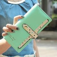 2014 new design korean style hot fashion women lady girl love polka dot hasp long wallet card holders handbag  christmas gift pu