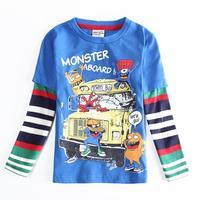 Wholesale NOVA A5629 Children T-shirt Long Sleeve Spring Autumn T shirt Shirts Cotton Boys Kids Clothes 5pcs/lot
