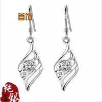 Sterling Silver ear hook S925 silver jewelry wholesale Earrings ear hanging accessories plating platinum Korean Korean fashion