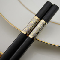 High-grade family Chinese wind alloy chopsticks 10 pairs of suits free shipping