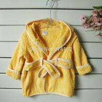 Drop Shipping Baby Hooded Bathrobe /Baby Bath Towel / Baby Blankets 100%Cotton warm infant bath robe Home wear