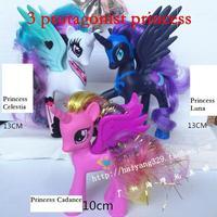 3pcs/set Limited Collector's Edition Genuine MLP 3 princess dolls Princess Celestia Luna Cadance best gift for children