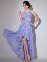 2014 Lavender Sequin Sweetheart Sexy Chiffon Backless Evening Dress Chapel Train Party Dresses Prom Gowns