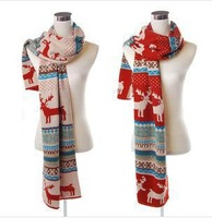 Korean Bohemian Deer Sided Autumn and Winter Wool Knitted Scarf Female Korean Scarf