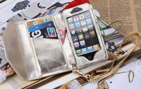 Michaels  Wallet Purse Pouch Case Bag for iphone  5 5G 5S with retail box korss free shipping