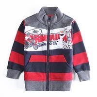 Wholesale Nova Coat Children Boys Jacket Coat Zipper Coat Fashion Striped Cotton Autumn Clothes for Child Boy's Outwear