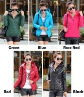 Fashion 2014 Design Short Down Jacket Winter Women Coat Cotton Warm Jacket Women Slim Zipper Jacket Outerwear SV21 SV011210