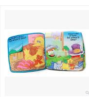 New Popular Early Childhood Educational America Sesame Street Elmo Hide and Seek Game Baby Cloth Book