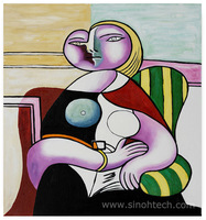 100% Hand Painted Reproductions Pablo Picasso Oil Paintings Pablo Picasso Woman Reading Oil Paintings on Canvas