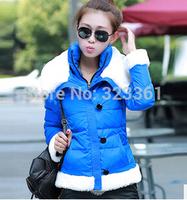 New Winter Women's White Goose Down Parka Female Plus Size Thickening Warm Jacket Women Double Lapel Collar Outerwear Coats