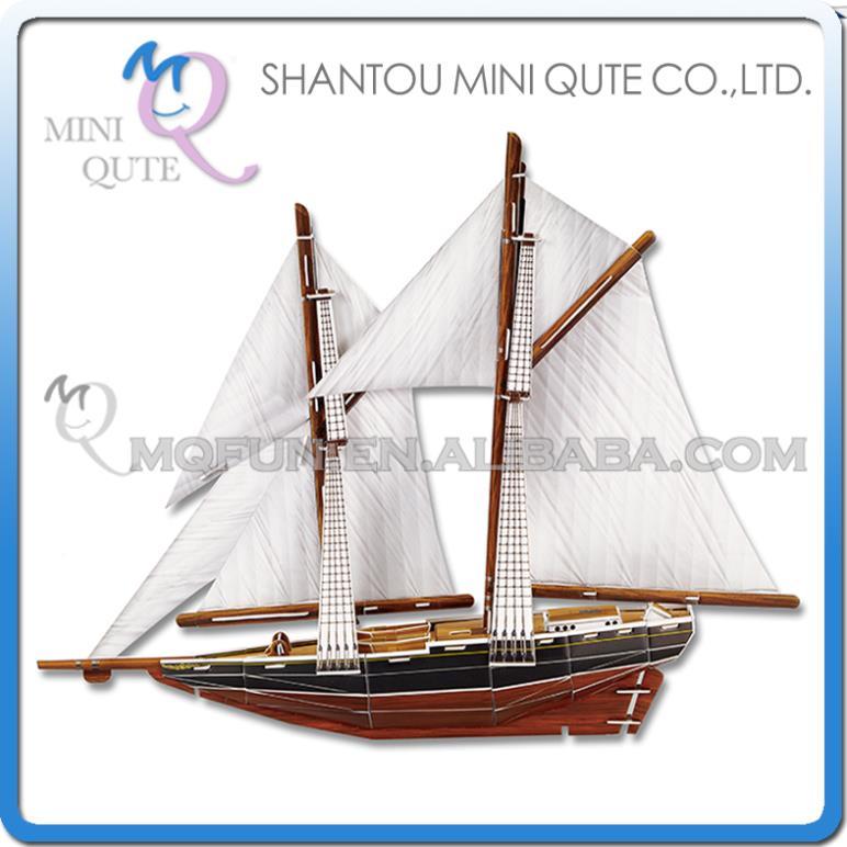 5pcs/lot Mini Qute Blue Nose Ship building 3d paper puzzle diy model cardboard jigsaw puzzle game educational toy NO.B368-15(China (Mainland))