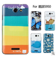 100% High quality anti-scratch shockproof SUPER Thin matte cartoon protective back cover case for  Coolpad 5950