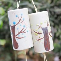 Ceramics Cheese Wind Chimes Campanula Bells Pachira Lucky Car ornaments