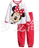 Children girls kids Clothing Sets Minnie suits 2 pcs sleepwear long sleeve cartoon pajamas IN STOCK